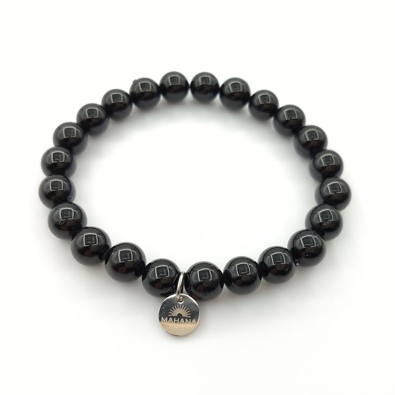 Bracelet Tourmaline Noire 8mm