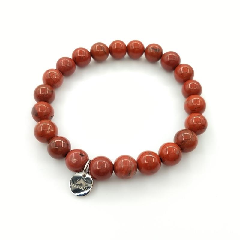 Bracelet Jaspe Rouge 8mm