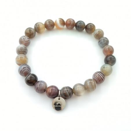 Bracelet Agate du Golfe Persique 8mm