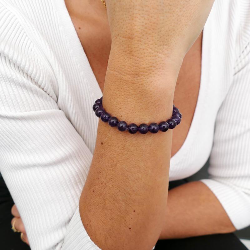 Bracelet Améthyste 8mm