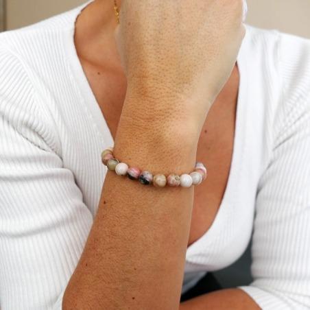 Bracelet Opale Rose 8mm