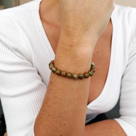 Bracelet Unakite 8mm