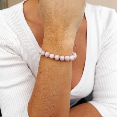 Bracelet Kunzite Rose 8mm
