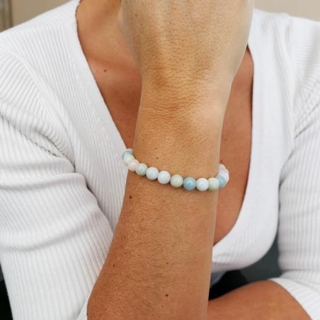Bracelet Béryl Multicolore (Morganite) 8mm