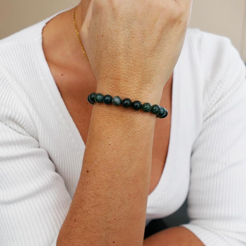Bracelet Agate Mousse 8mm