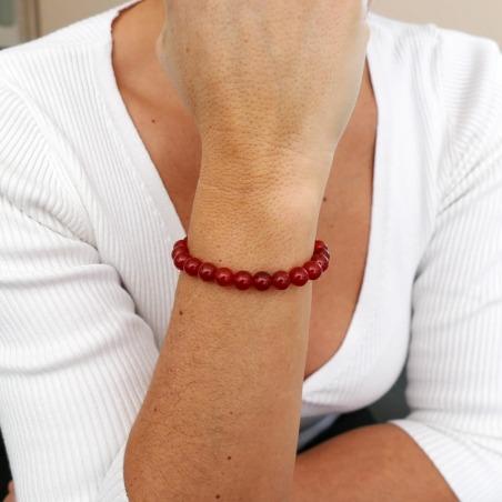Bracelet Cornaline 8mm