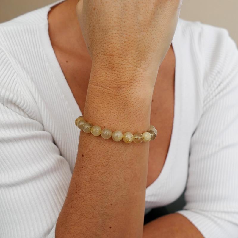 Bracelet Quartz Rutile Doré