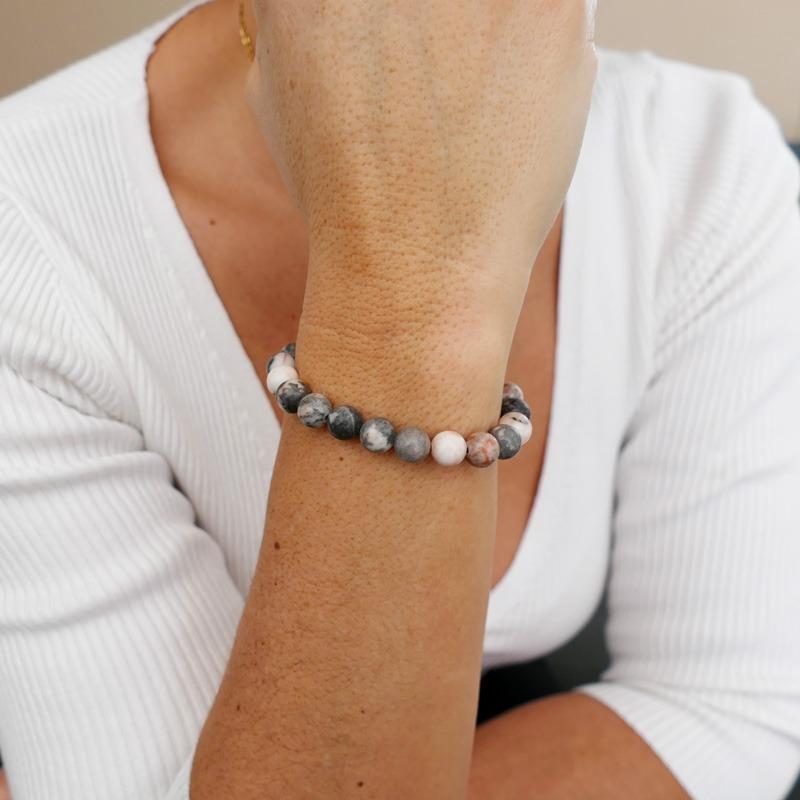 Bracelet Jaspe Rose 8mm
