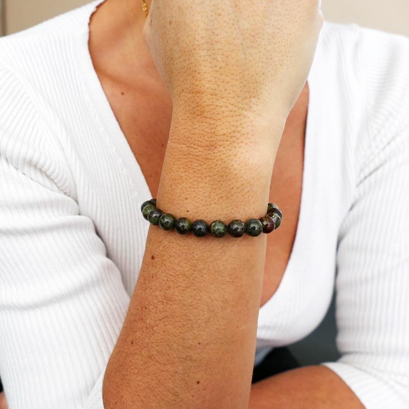 Bracelet Jaspe Sang de Dragon 8mm