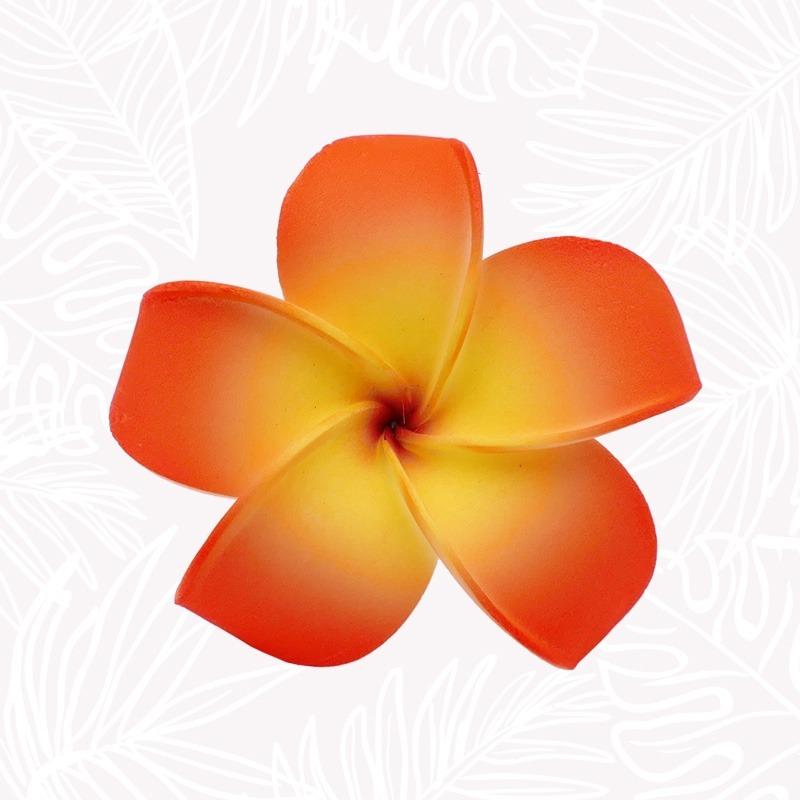 Fleur Cheveux Frangipanier Orange