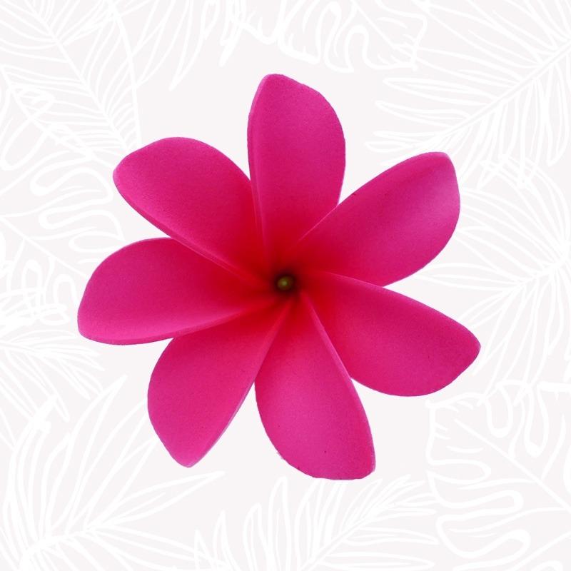 Pink Tiare Flower Hair