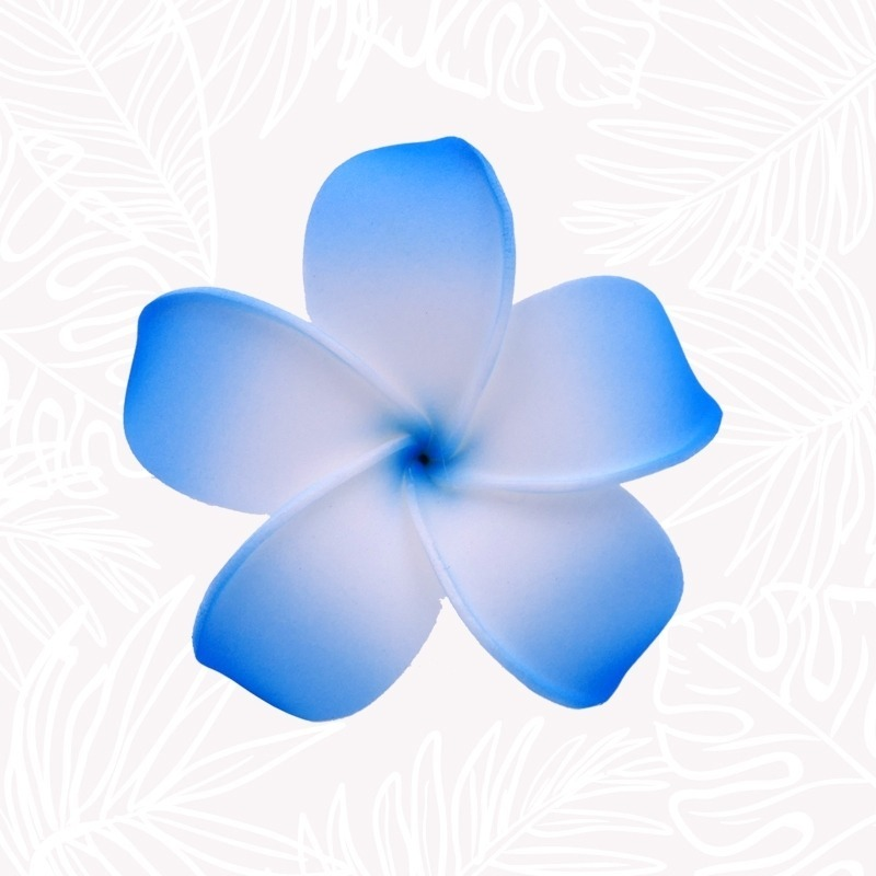Blue Frangipani Hair Flower