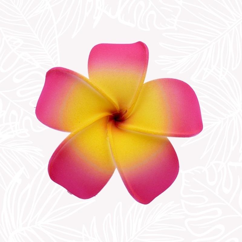 Pink Frangipani Hair Flower