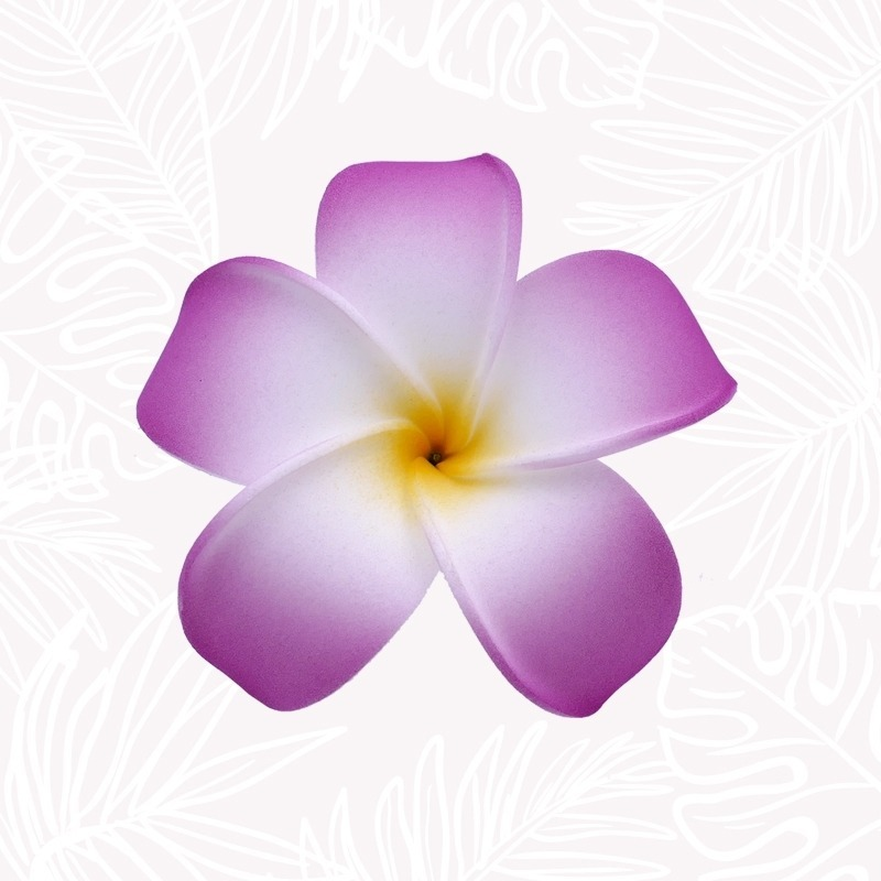 Purple Frangipani Hair Flower