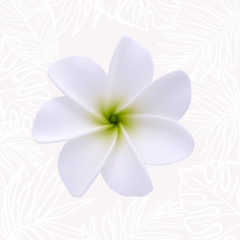 White Tiare Hair Flower