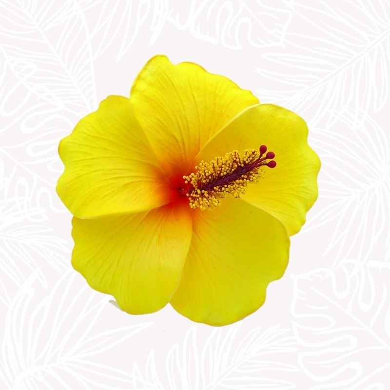 Yellow Hibiscus Hair Flower