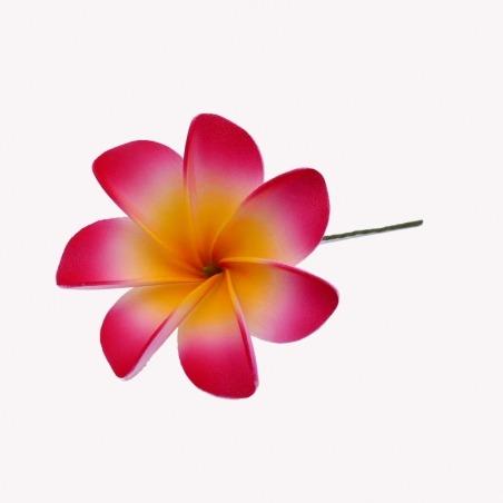 Fleur Cheveux Tiaré Rouge