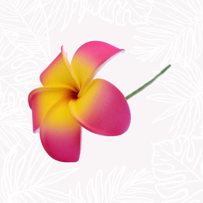 Fleur Cheveux Frangipanier Rose