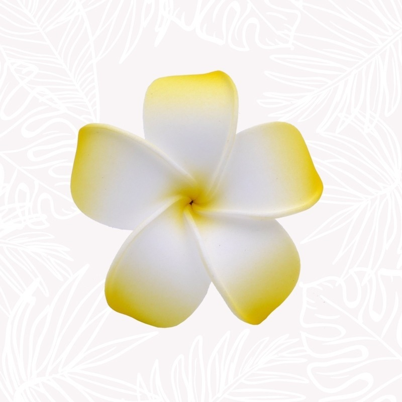 Yellow Frangipani Hair Flower