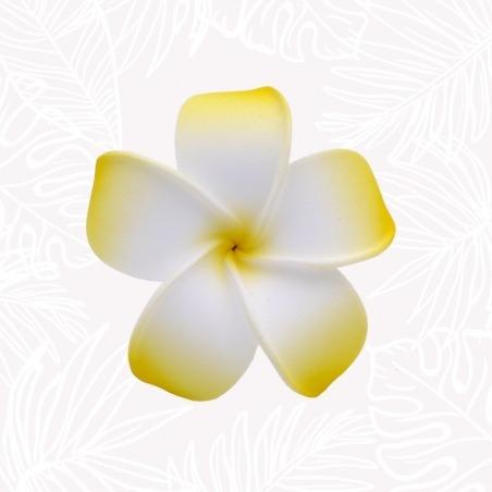 Fleur Cheveux Frangipanier Jaune