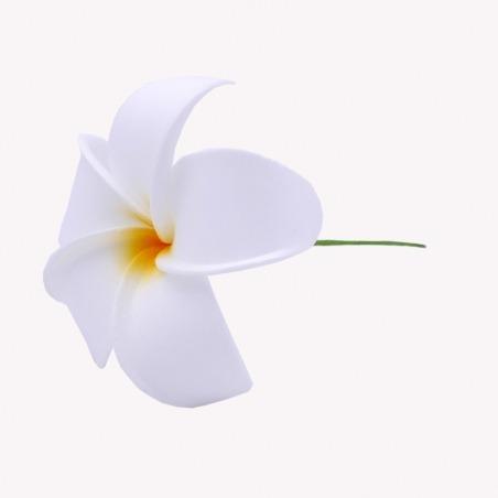 Fleur Cheveux Frangipanier blanche tige