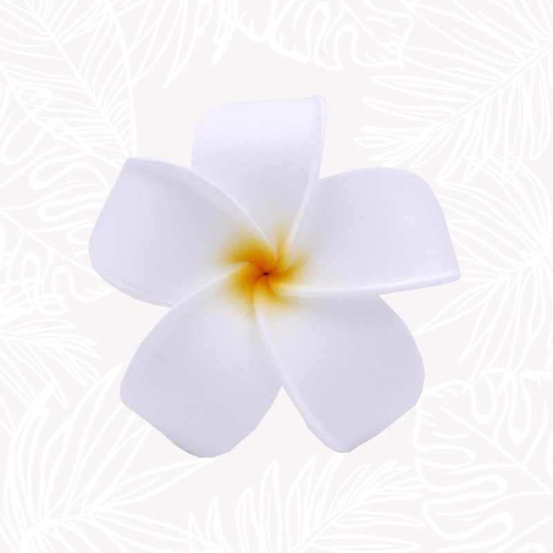 White Frangipani Hair Flower