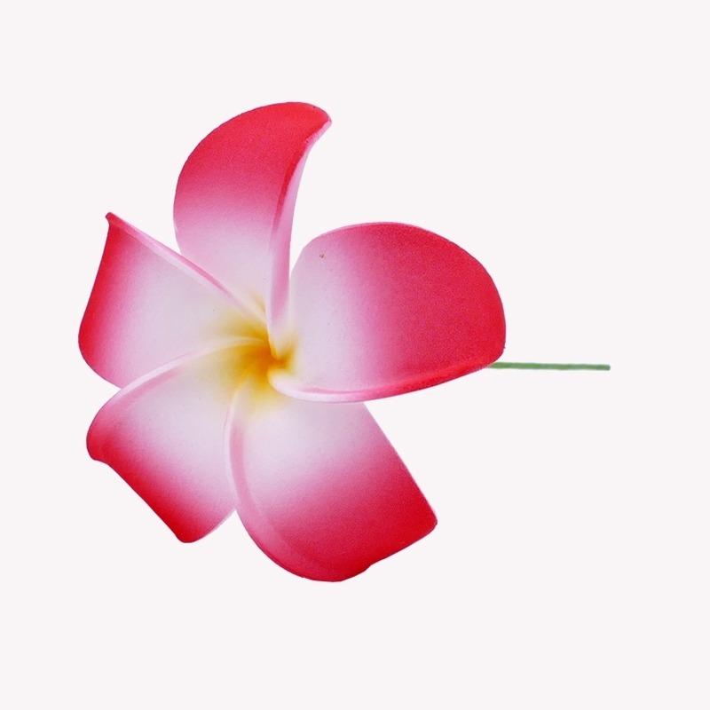 Fleur Cheveux Frangipanier rouge tige