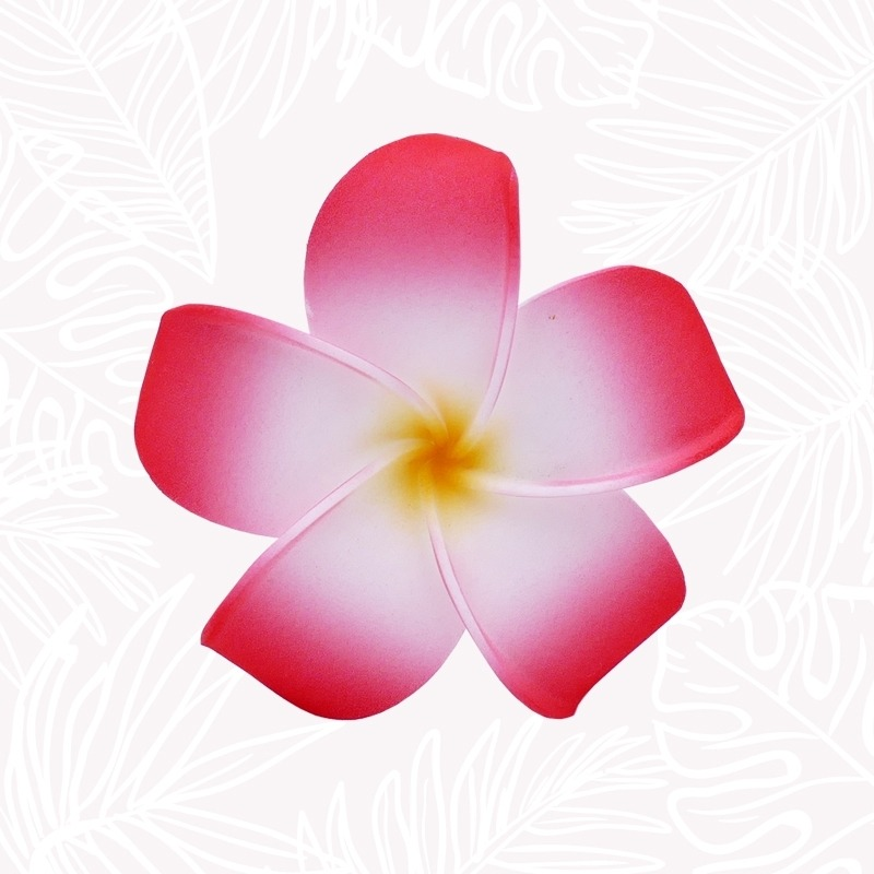 Red Frangipani Hair Flower