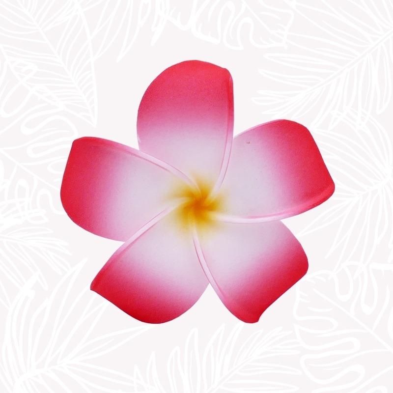 Fleur Cheveux Frangipanier rouge