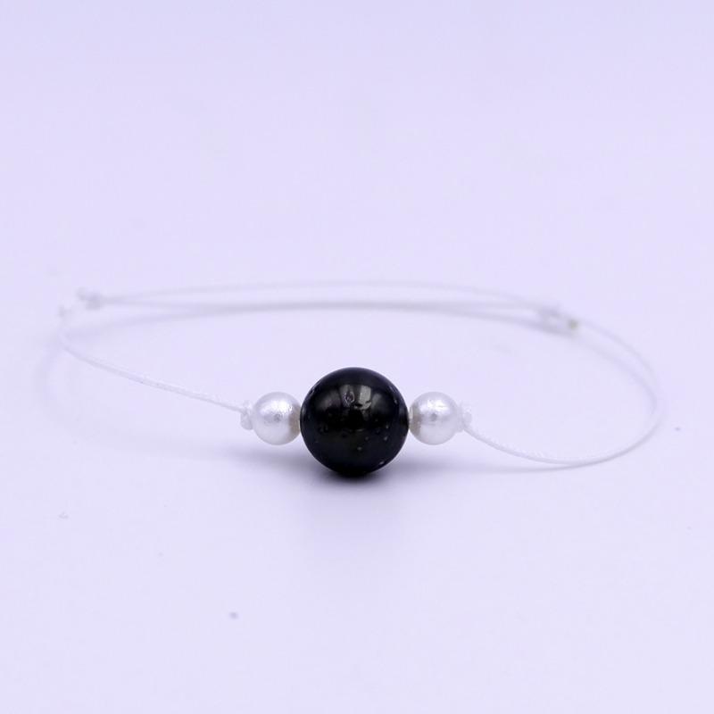 Bracelet Perle de Tahiti blanc