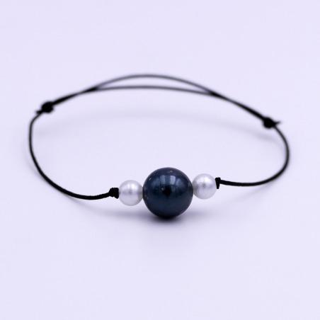 Bracelet Perle de Tahiti noir