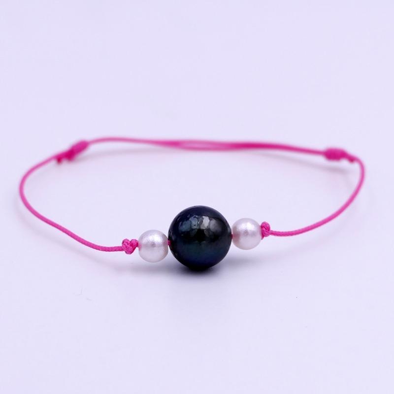 Bracelet Perle de Tahiti Rose
