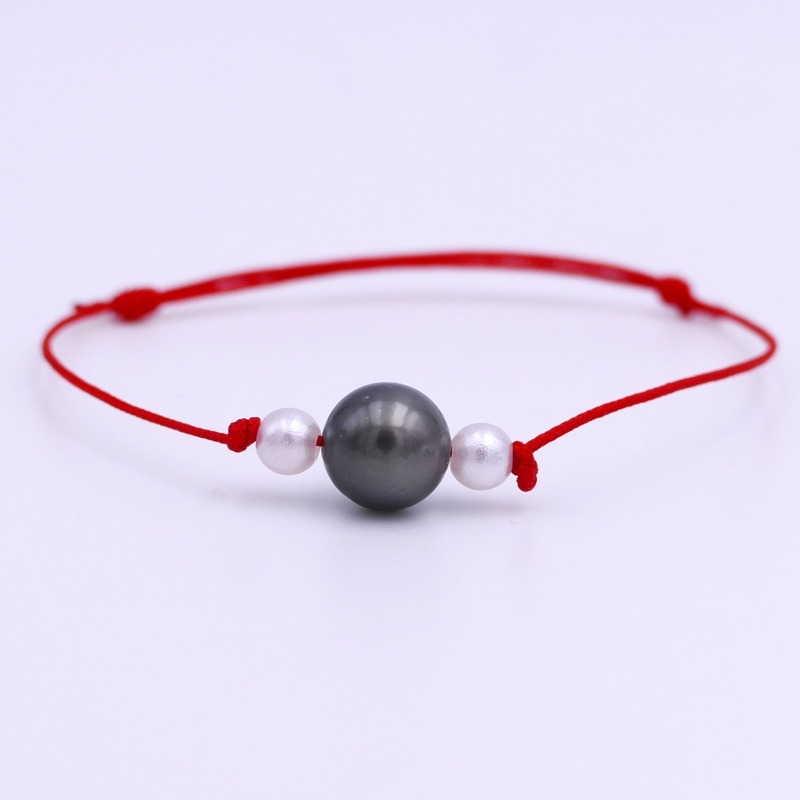 Bracelet Perle de Tahiti rouge