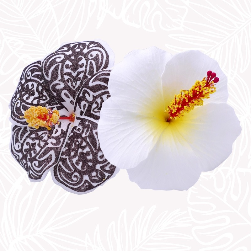 Duo Fleur cheveux Hibiscus